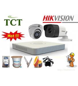 Lắp đặt trọn bộ 8 camera quan sát Hikvision giá rẻ tại Hà Nội