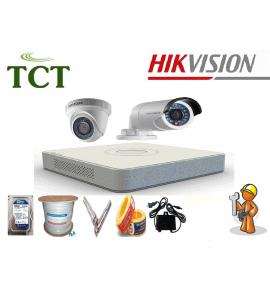 Lắp đặt camera giám sát trọn bộ 8 camera Hikvision 3.0MP chính hãng