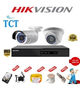 Lắp đặt camera giám sát trọn bộ 4 camera Hikvision 3.0MP giá rẻ