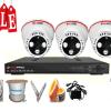 Lắp đặt trọn bộ hệ thống 3 camera quan sát giá rẻ