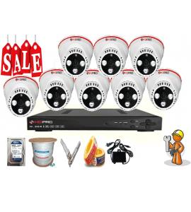 Lắp đặt trọn bộ hệ thống 8 camera quan sát giá rẻ