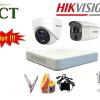 Lắp đặt trọn bộ 4 camera chống trộm HD-TVI HIkvision