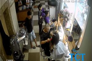 Camera quan sát cửa hàng, salon tóc Hoàng Tú