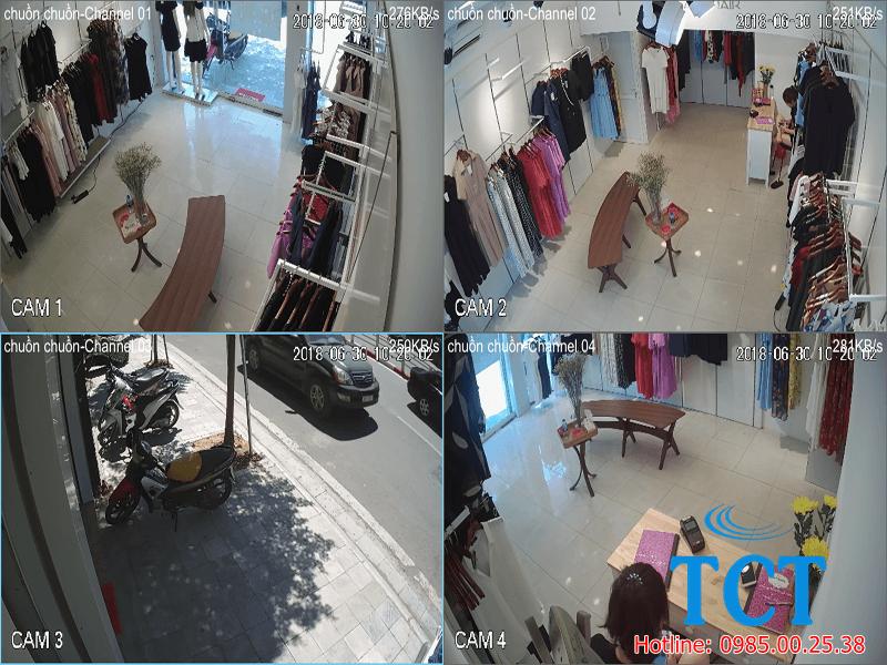 camera giám sát cửa hàng thời trang