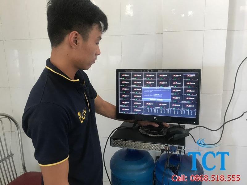 Kĩ thuật công ty tại dự án lắp đặt camera giám sát nhà xưởng tại Hà Nội