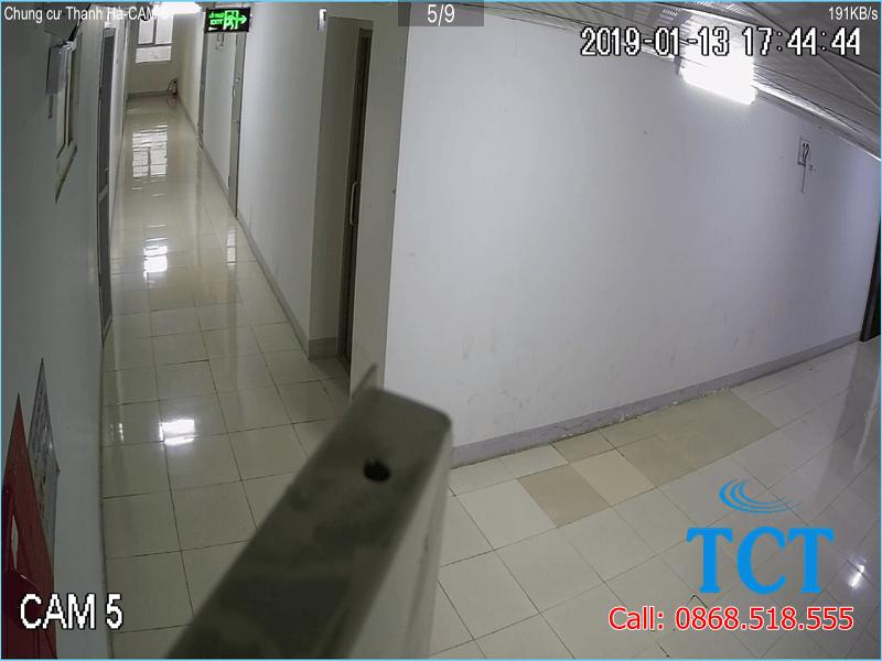 lắp đặt camera giám sát tại tòa nhà hh02-2b