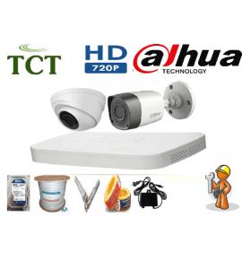 Giá lắp đặt 8 camera dahua HD 720P HD-CVI