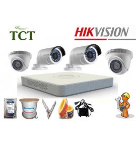 Báo giá lắp đặt trọn bộ 10 camera Hikvision HD 720P