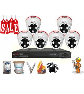 Lắp đặt trọn gói 6 Camera quan sát cao cấp giá rẻ